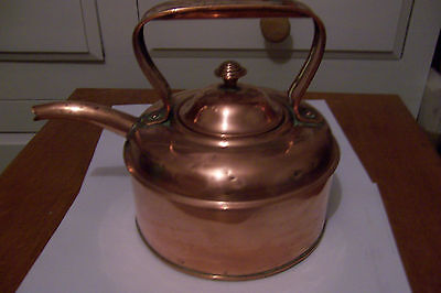 Vintage COPPER KETTLE, for antique, rustic, shabby chic french country interior