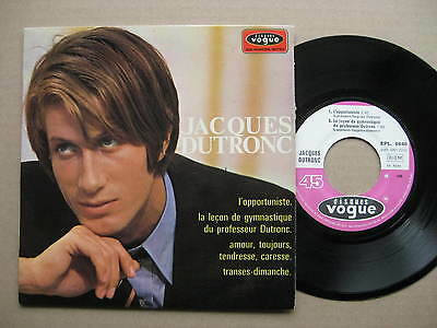 """7"""" EP  FRENCH YE YE JACQUES DUTRONC L`opportuniste + 3  FRANCE PIC Vogue 1968"""