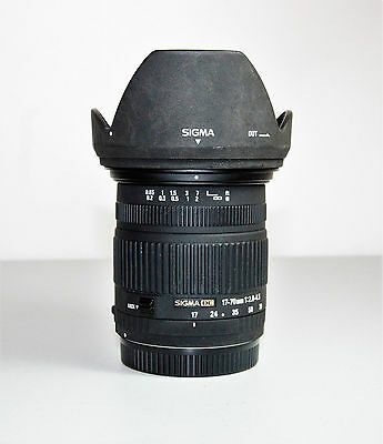 Sigma 17-70mm F2.8-4.5 DC lens - CANON fit -