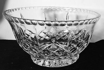Vintage  Leaded Crystal Bowl gorgeous 9 1/2""