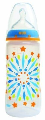 NUK Tie Dye Wide Neck Baby Bottle with Silicone Nipple 10 Ounce, 1 Pack