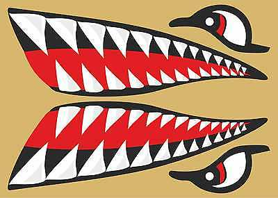 Stickers 510 Small Sharks Teeth & Eyes stickers for Kayak Surf Belly board SUP