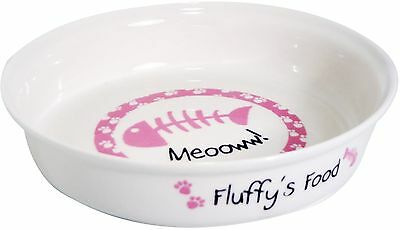 Personalised Pink Cat Bowl - Free Delivery