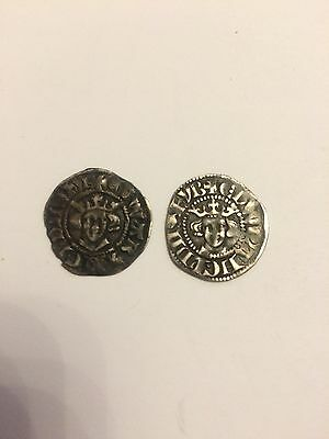 2x Edward Silver Penny Hammered Coins