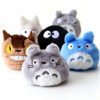 6 sets My Neighbor Totoro Plush Bean Bag Stuffed Doll
