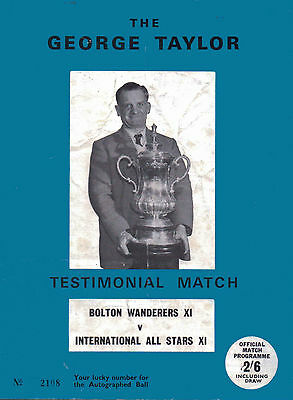 The George Taylor Testimonial Match - Official Match Programme