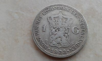 1922 Netherlands - One Guilder - Very collectable & silver too.