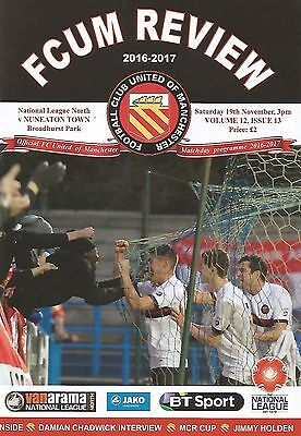FC United of Manchester v Nuneaton Town 2016/17 brand new football programme