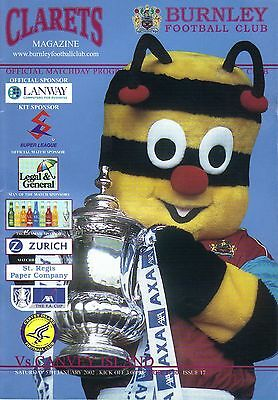 Burnley v Canvey Island 05.01.02 FA Cup