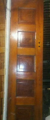 "Antique Wooden 5 Panel Door 82"" x 21 3/4"" x 1 7/16"""
