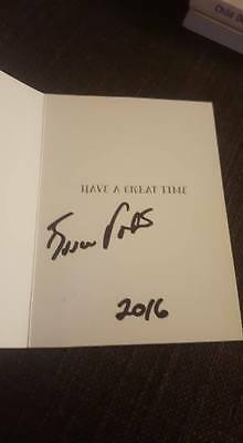 Signed Bruce Foxton Christmas Card Charity Auction From The Jam Town Malice