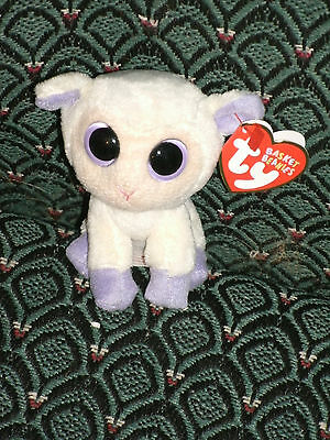 """Ty Basket Boo 3"""" LILY  the SMALL LAMB (EASTER BASKET BEANIES) - MWMT - VHTF"""