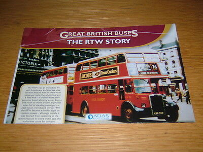Great British buses leaflet the RTW story red London double decker bus
