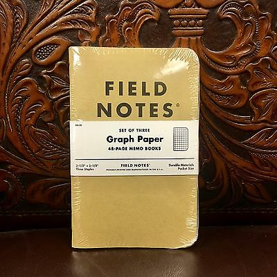 Field Notes - Kraft Graph Paper (Sealed 3 Pack)