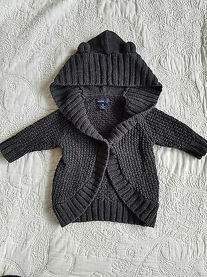 GAP baby girl thick hooded with ears sweater 3-6 months