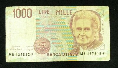 Italy Currency - 1000 Lire - Collectible Banknote