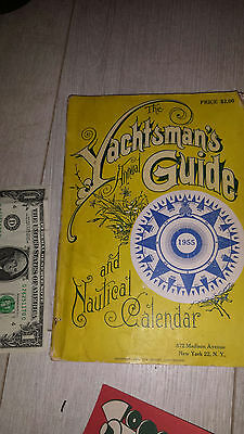 Vintage Antique  1955   Yachtsman's Guide & Nautical Calendar  Awesome Graphics