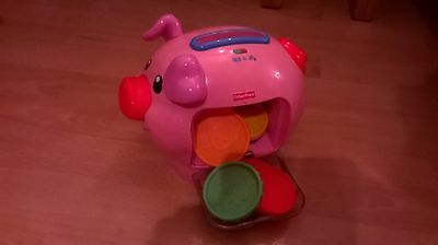 Children's Fisher Price Money Pig toy - Learn colours and numbers