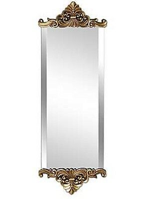 Gold Crested Baroque Antique Shabby Chic Bevelled Edge Wall Mirror NEW Hall