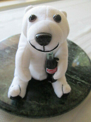Coca Cola Polar Bear Holding Bottle Coke Collectable 1993 Promotion NWD Stuffed