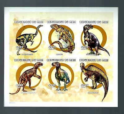 Mali dinosours 2000  imperforate M/S Variety MNH  (S639)