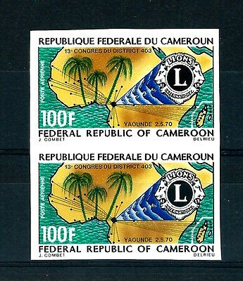 Cameroon imperforate pair Variety MNH (S711)