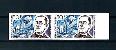 Niger 1974 imperforate pair Variety MNH  (S666)