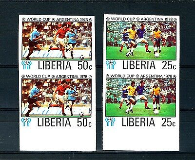 1978 football set imperforate pairs variety MNH (S744)