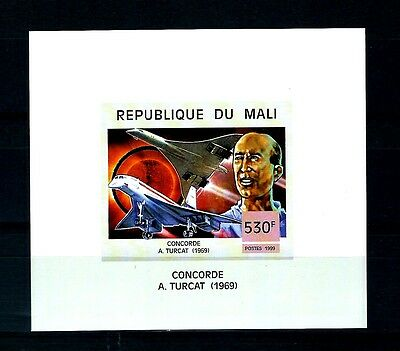 Mali concorde 1969  imperforate M/S  Variety MNH  (S655)