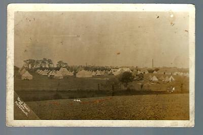 Early Military postcard army camp unknown (L050)