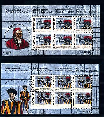 [48647] Switzerland 2005 Joint issue Vatican 2 Sheets MNH