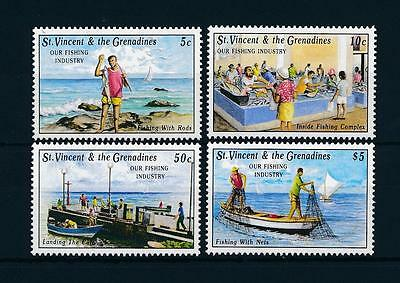 [48426] St. Vincent and Grenadines 1993 Fishing industry Boats MNH