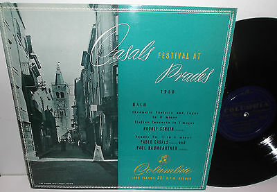 33CX 1110 Bach Cello Sonata Pablo Casals Cello & Paul Baumgartner Piano Grooved