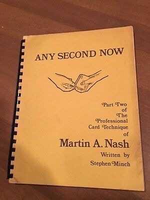 Any Second Now Martin Nash Steven Minch 1st Ed. 1975 - Good Cond