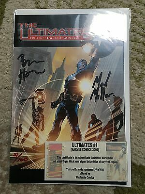 The Ultimates #1 1St Print Vf/nm Double Signed Millar Hitch Avengers