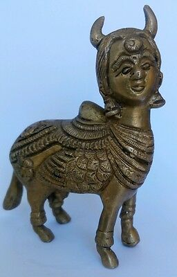 Rare Asian Oriental Art Old Bronze Sfinx Mithological Animal Figure Patina