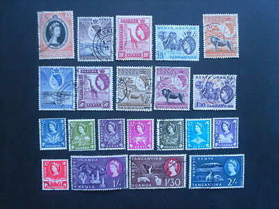 K.U.T. QE11 Small collection of fine used stamps