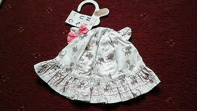 Baby Girl Infant  Summer Hat Size 0-3 Months