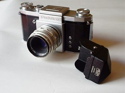 Very Rare KW Praktica + ZEISS Tessar 50mm 2.8 CLAd + Finder.