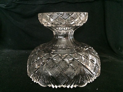 Scarce Georgian Cut Glass Pineapple Stand