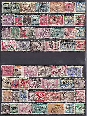 Lot Croatia Kroatien SHS 1918 used stamps briefmarken gestempelt