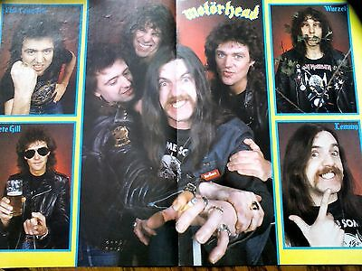 Motorhead 1984 New Line up Article & Poster Lemmy Kerrang to Frame ?