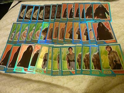 TOPPS STAR WARS THE FORCE AWAKENS x 40 RAINBOW FOILS