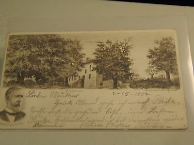James G. Blaine Birthplace Private Mailing Card Postcard