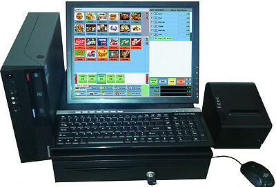 "Zeus POS System Restaurant Retail Fast Food - 19"" Touch Screen SSD Point of sale"
