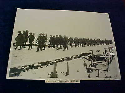 Orig WW1 R/P British Western Front And Then There Was Snow