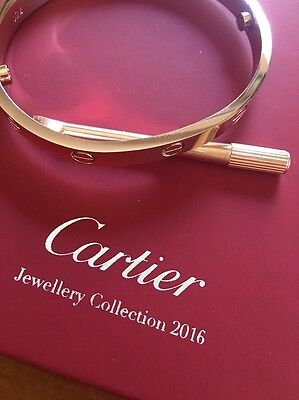 Love Bracelet YELLOW gold plated EXTRA SMALL SIZE  Cartier Cut Jewellery
