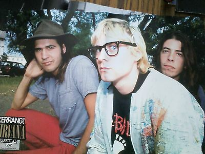 Kurt Cobain Nirvana Band Picture Double Page Poster to Frame
