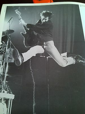 Pete Townshend The Who 1982 Single Page Poster from Music Magazine 23x19cm