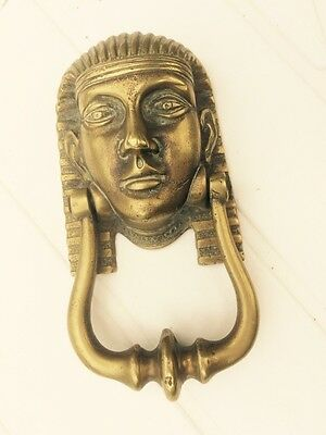 Solid Brass Reclaimed Pharoh Door Knocker